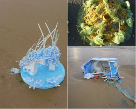 beach offerings non biodegradable elements