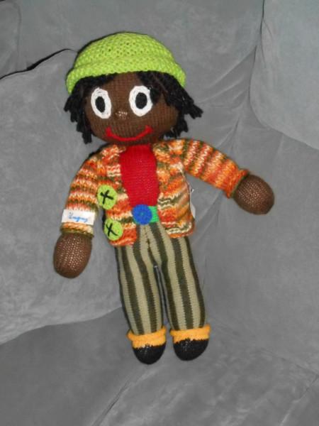 Creative Knitted Art   A Golliwog!   Alison Schwabe Blog