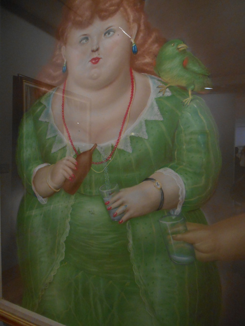botero's girl with parrot